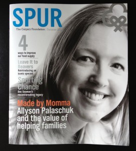 SPUR Magazine Cover Made by Momma President Allyson Palaschuk