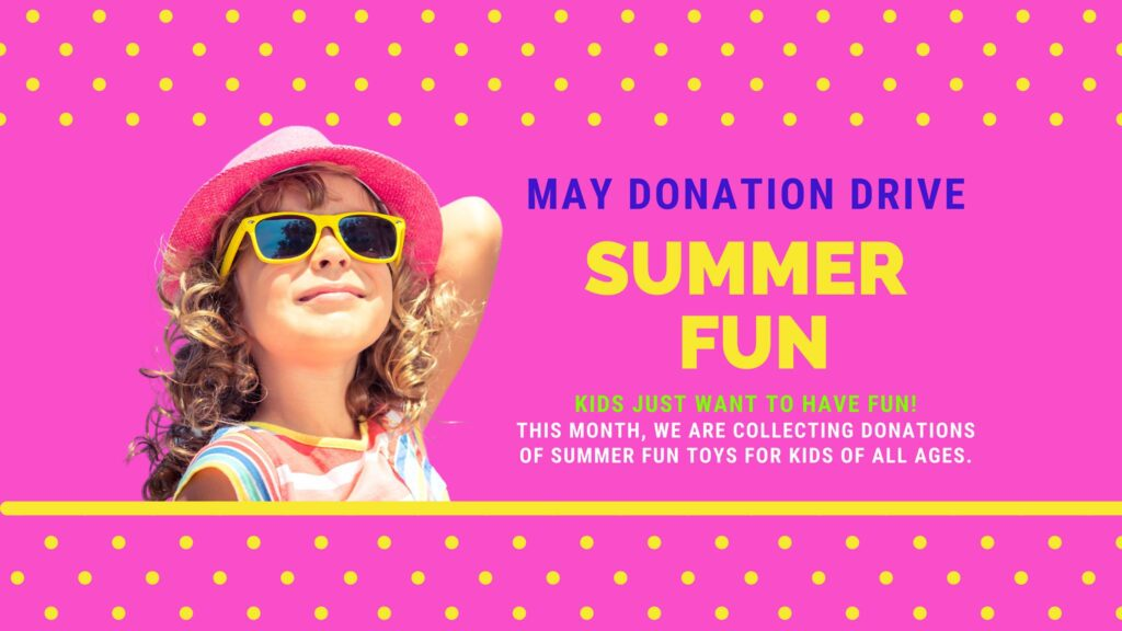 May 2021 Summer Fun Donation Drive at Made by Momma